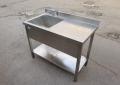Бу стол-мойка 110х60 производственная