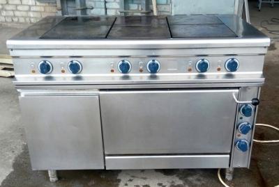 Б.у плита электрическая 6-ти конфорочная с духовкой