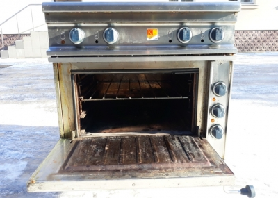 Б.у плита электрическая промышленная 4-х конфорочная с духовкой Kogast