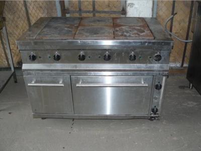 Б.у плита промышленная 6-ти конфорочная с духовкой