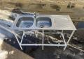Бу двойная мойка 120х50 из нержавеющей стали