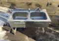 Бу двойная мойка 120х60 из нержавеющей стали