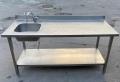 Бу стол-мойка 180х70 производственная