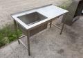 Бу стол-мойка из нержавеющей стали