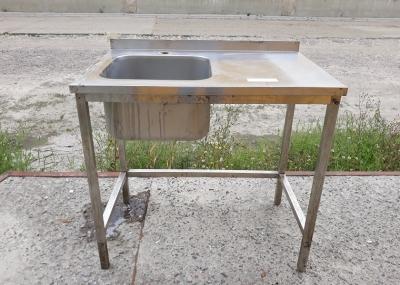 Бу стол-мойка штампованная