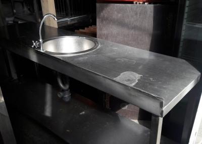 Бу стол-мойка из нержавейки