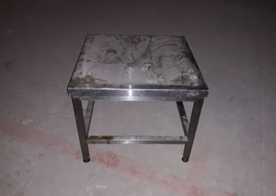 Бу стол-подставка из нержавейки