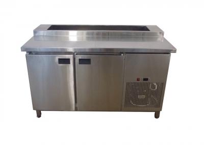 Холодильный стол для пиццы (саладетта) с гранитной столешницей 2-х дверный