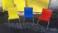 Пластиковый б.у стул для кафе