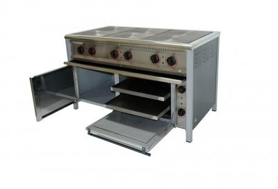Плита промышленная электрическая 6-ти конфорочная с духовкой ПЭ-6Ш Бюджет