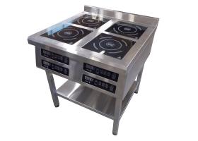 Профессиональная индукционная плита 4-х конфорочная