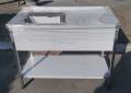 Стол с мойкой из нержавеющей стали для кухни