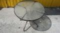Столы стеклянные круглые