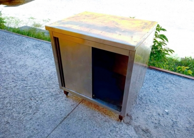 Стол-тумба бу из нержавеющей стали
