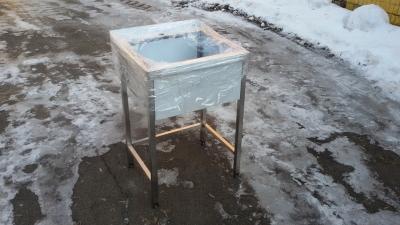 Ванна моечная 1 секционная из нержавеющей стали