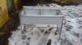 Ванна моечная двухсекционная из нержавеющей стали